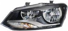 Phare avant gauche / ampoule h7 - h7 pour volkswagen polo 3/5 portes de 09/2009 a 06/2014