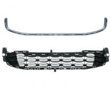 Grille inférieure de pare-chocs avant / Modèle avec enjoliveur chrome pour CITROEN DS4 DE 05/2011 A 10/2015