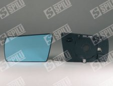 Glace gauche plate bleue