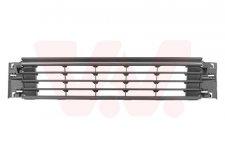 Grille inférieure centrale de pare-chocs avant / noire / avec moulure chromée pour volkswagen polo 3/5 portes de 07/2014