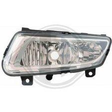 Feu antibrouillard droit / fond chromé / ampoule h8 pour volkswagen polo 3/5 portes de 09/2009 a 06/2014