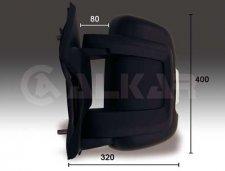 Rétroviseur droit / Noir / Réglage électrique / Chauffant / Avec feu clignotant pour PEUGEOT BOXER (2) DE 07/2006 A 05/2