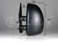 Rétroviseur gauche / Noir / Réglage manuel / bras court pour PEUGEOT BOXER (1) DE 01/2002 A 06/2006
